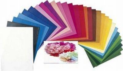 Bastelbedarf - Seidenpapier - Fotokarton - Transparentpapier