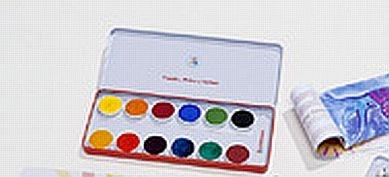 Stockmar Deckfarbkasten 12 Farben Künstlerqualität