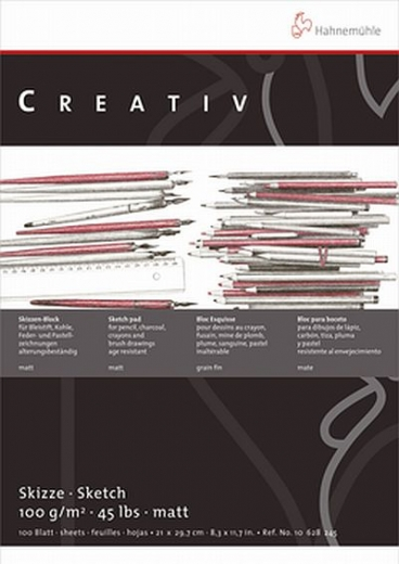 Skizzenblock Creativ 100 Blatt A4 · 100g/m²