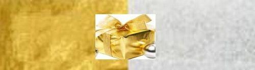 Seidenpapier - gold/silber · 25 Bogen (pro Pack)