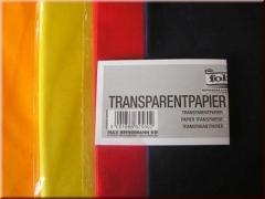 Transparentpapier gefalzt 40g - 70 x 100cm · Einzelfarben