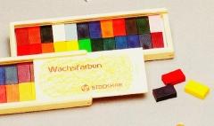 Stockmar Wachsmalblöcke 24 Stück Holzkassette