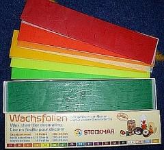 Wachsfolien Einzelfarben 12 Stück 200 x 40 x 9 mm