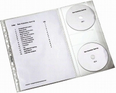 Leitz Prospekthüllen A4 mit CD-Klappe