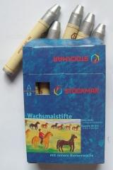 Stockmar Wachsmalstifte 12 er Pack silber oder gold