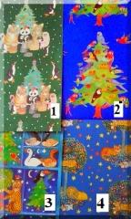 Weihnachtsgeschenkpapier Tiermotive  50 x 70 · recycling