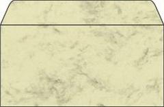Desing Briefumschläge DIN lang marmoriert  beige 50 Stück