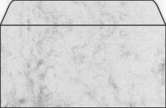 Desing Briefumschläge DIN lang marmoriert  grau  50 Stück