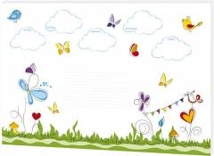 Schreibunterlage · Schmetterlinge - 60 x 42 cm, 30 Blatt