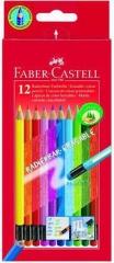 Günstig!   Radierbare Farbstifte,12 Farben sortiert im Kartonetu