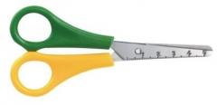 Schere Kids Linkshänder, in gelb/grün, gerade, rund,13 cm