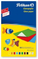 Pelikan Buntpapier Mappe mit 10 Blatt in 10 Farben