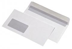 1000 Stück · Briefumschläge DIN lang, mit Fenster, selbstklebend