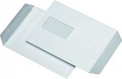 500 Stück, Versandtaschen C5, mit Fenster, selbstklebend, weiß