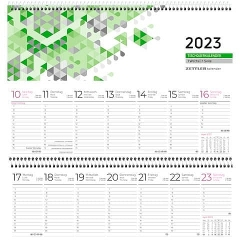 Zettler Tischquerkalender 2022         146 - 1 Woche / 1 Seite, 30 x 10 cm, blau