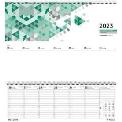 Pultkalender 2022 · 42cm x 14,5cm 1W 2S ZETTLER 126-0013 quer Spiralbindung