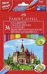 Faber-Castell Farbstifte Castle 36er Kartonetui mit Spitzer