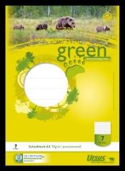 Ursus Green Schulblock LIN7 A4 50 Blatt 70g/qm 7mm kariert