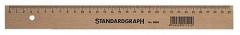 Standardgraph Holzlineale, 20 cm