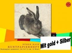 Dürer Buntpapierheft gummiert 172x247mm 12 Blatt 82g/qm · selbstklebend