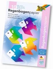 Regenbogenpapier - 22,5 x 32 cm, 10 Blatt, einseitig bedruckt