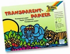 Folia Transparentpapier - Heft, 20 x 30 cm, 42 g/qm, 10 Farben