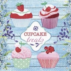 Servietten Design Cupcake treats · 33 x 33 cm · 20 Stück