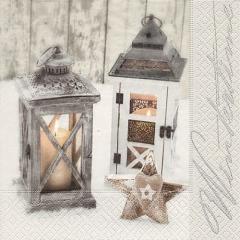 Servietten Wooden lanterns - 33 x 33 cm · 20 Stück