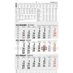 3-Monatswandkalender - 30 x 49 cm 2022