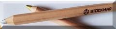 Gold und Silber / 3-eckig - 15 Stifte in der Faltschachtel Natur
