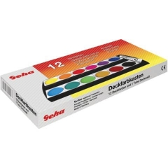 Geha Deckfarbkasten - 12 Farben + 1 Deckweiß