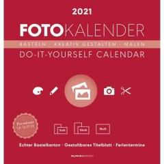 AlphaEdition Bastelkalender - 21 x 22 cm, rot