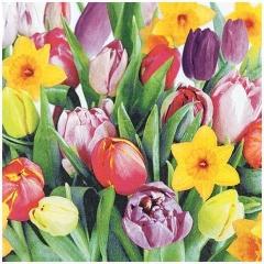 Lunchservietten Frühjahr - 33 x 33 cm, 20 Stück