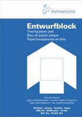 Transparentpapierblock 90/95g/qm 50 Blatt